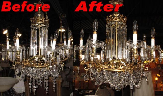 Chandelier repair smart choice repair center u name it we repair it aloadofball Image collections